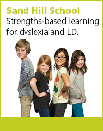 Sand Hill School. Language-based learning differences such as dyslexia.