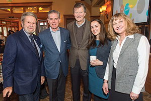 Tad Taube, Robert Keller, John Kriewall, Mary Katherine Flanigan, Betsy Haehl at the Children's Health Council Breakfast