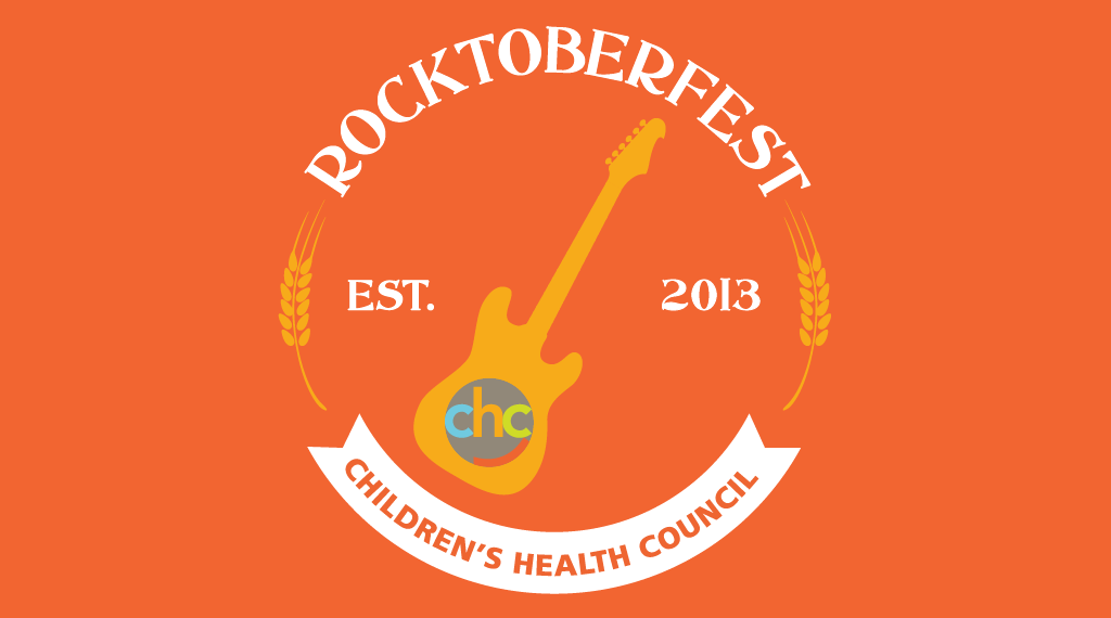 Save the date: Saturday, October 15, 2016. Rock on and support CHC kids and teens! Children's Health Council Rocktoberfest, Established 2013.
