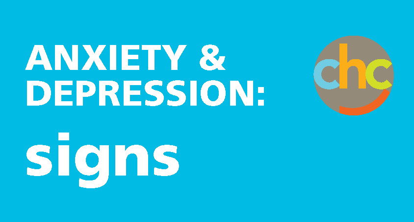 igns of anxiety and depression