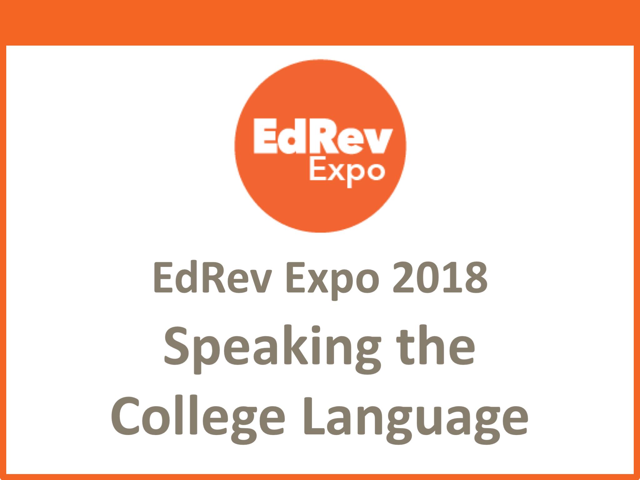 Speaking the College Language