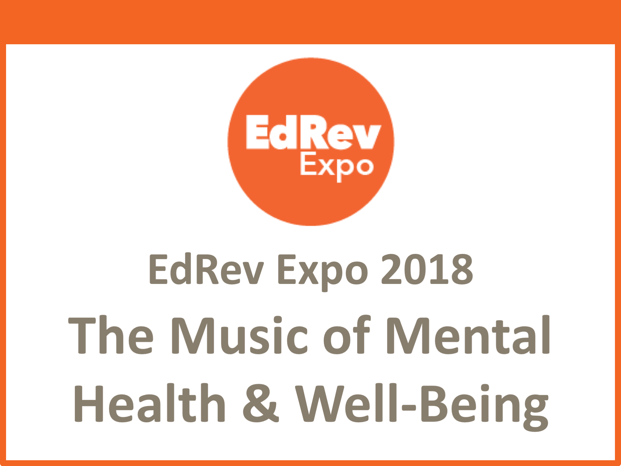 Music of Mental Health and Well-Being