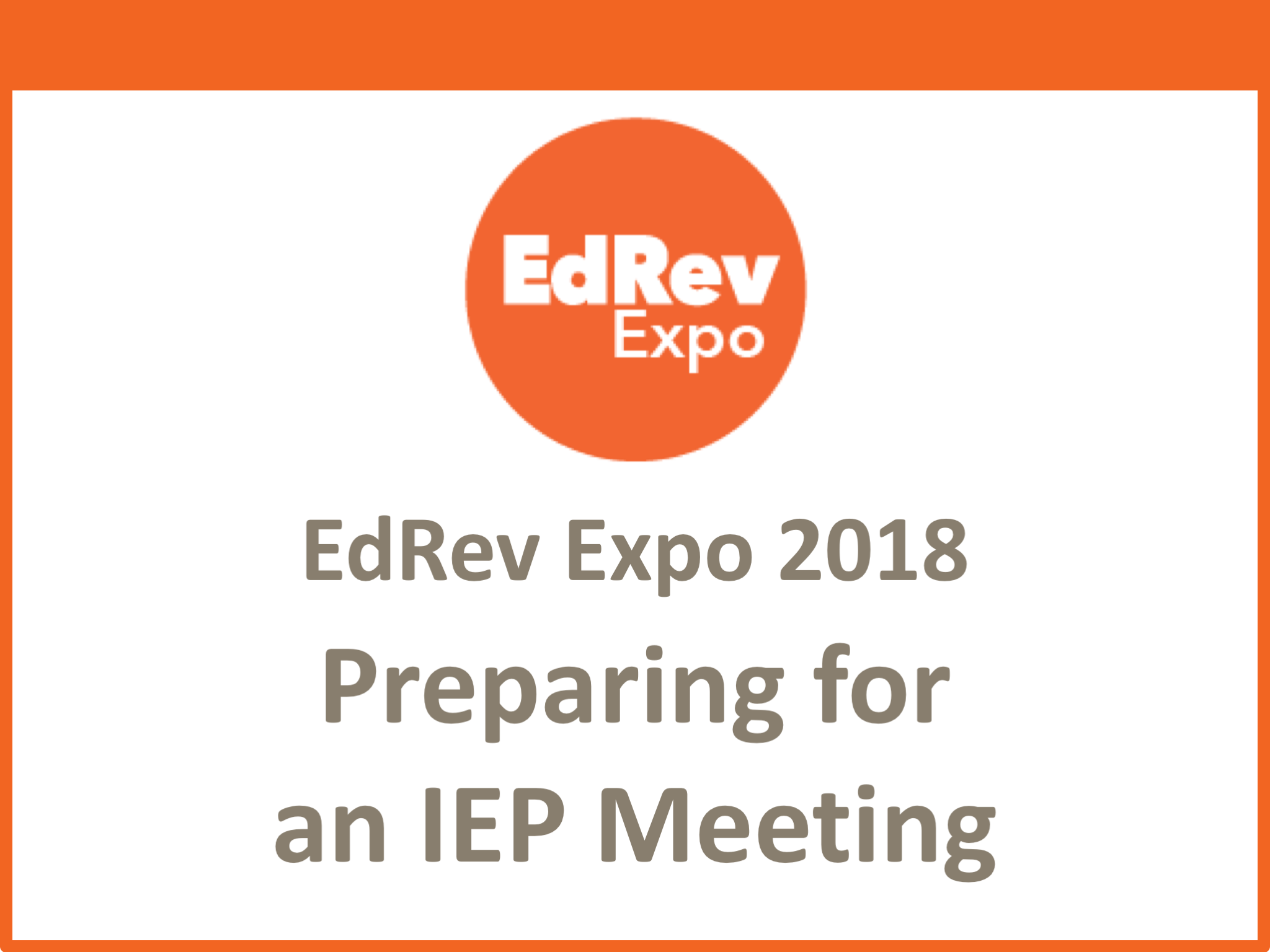 Preparing for IEP meeting