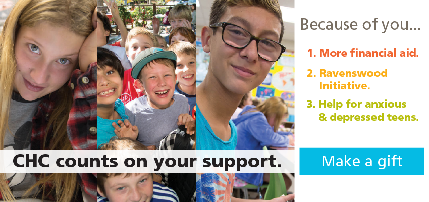 CHC counts on your support. Make a gift today!