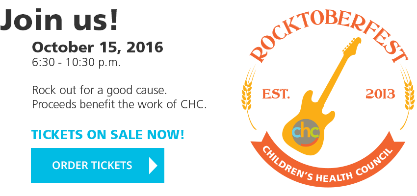 Join us! October 15, 2016, 6:30 – 10:30PM. Rock out for a good cause. Proceeds benefit the work of CHC. TICKETS ON SALE NOW! ORDER TICKETS FOR ROCKTOBERFEST