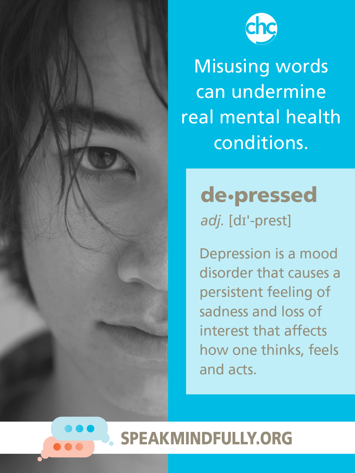 Speak Mindfully poster about Depression
