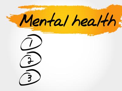 Mental health blank list