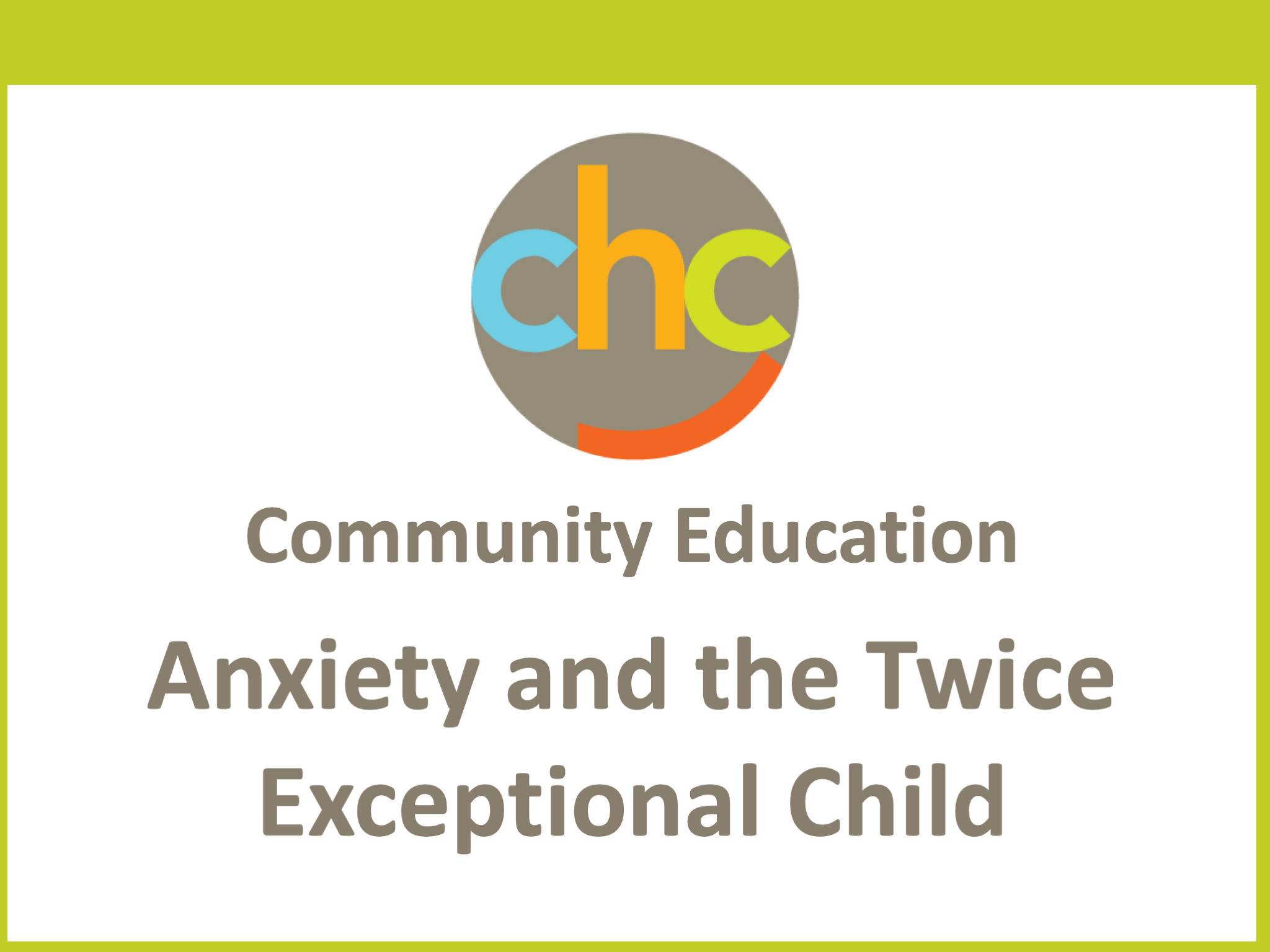 Anxiety and the Twice Exceptional Child323