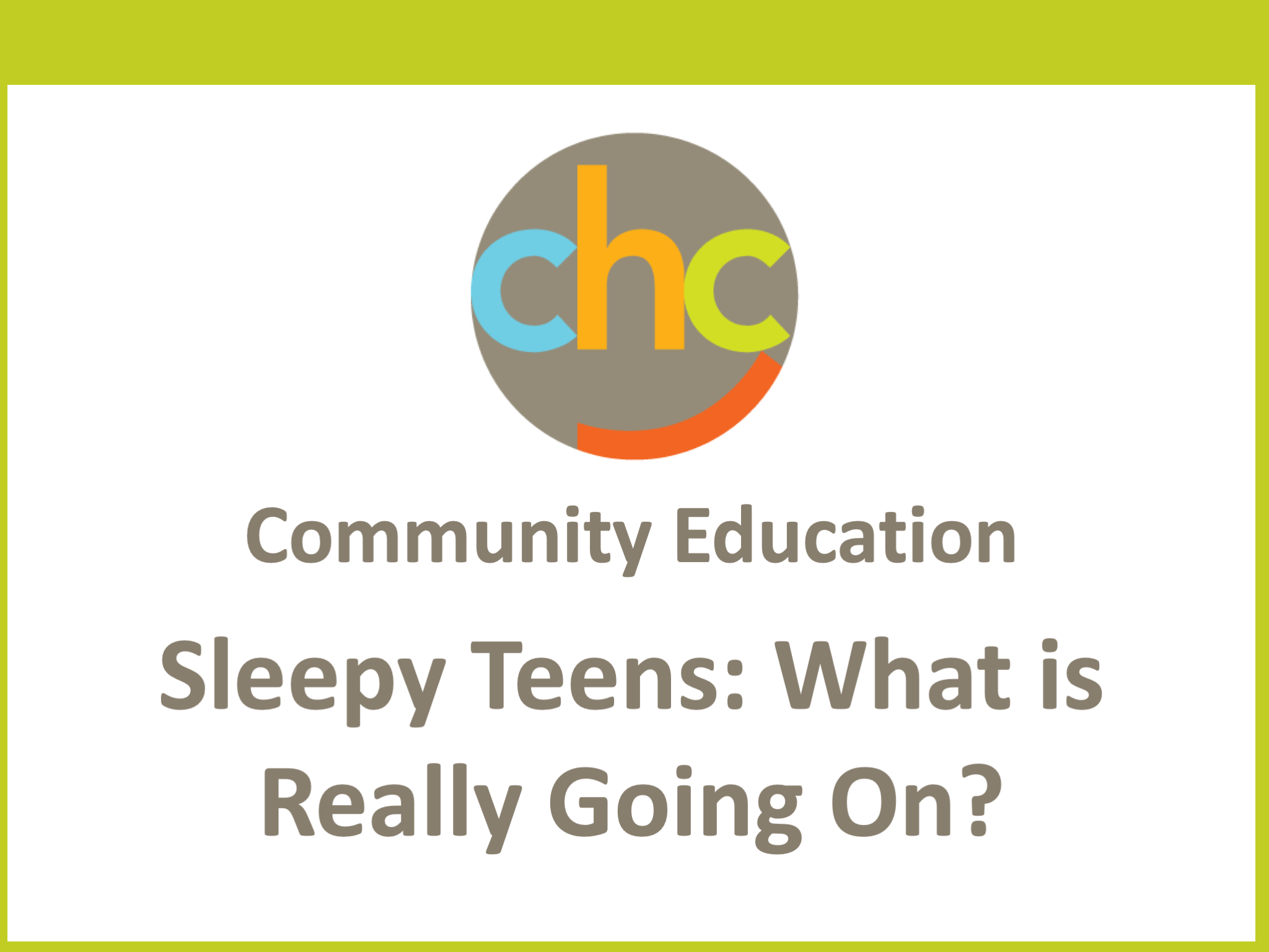 Sleepy Teens- What is Really Going On 475