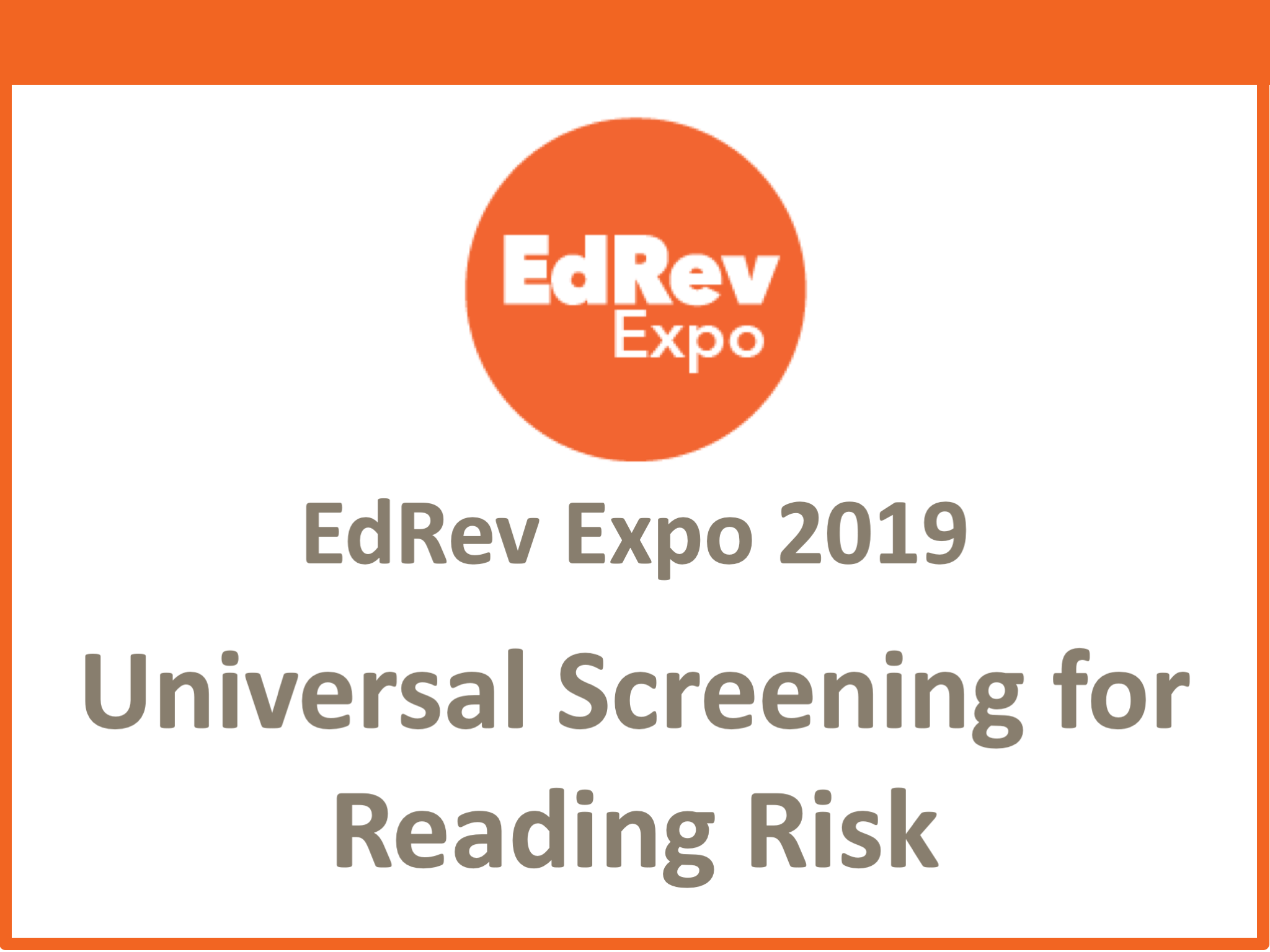 Koeller_Universal Screening for Reading Risk