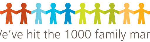 We've hit the 1000 family mark!