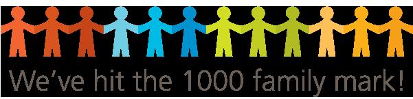 We've hit the 1000 family mark!