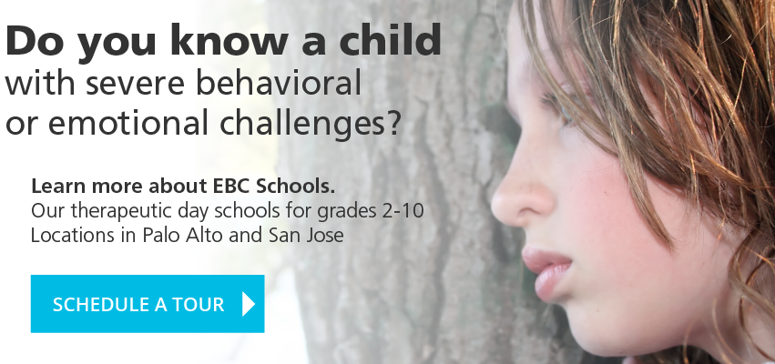 Do you know a child with severe behavioral or emotional challenges? Learn more about EBC Schools. Our therapeutic day schools for grades 2-10. Locations in Palo Alto and San Jose. SCHEDULE A TOUR
