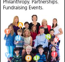 Philanthropy. Partnerships. Fundraising Events.